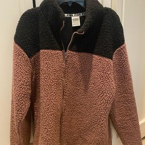 PINK Sherpa zip up